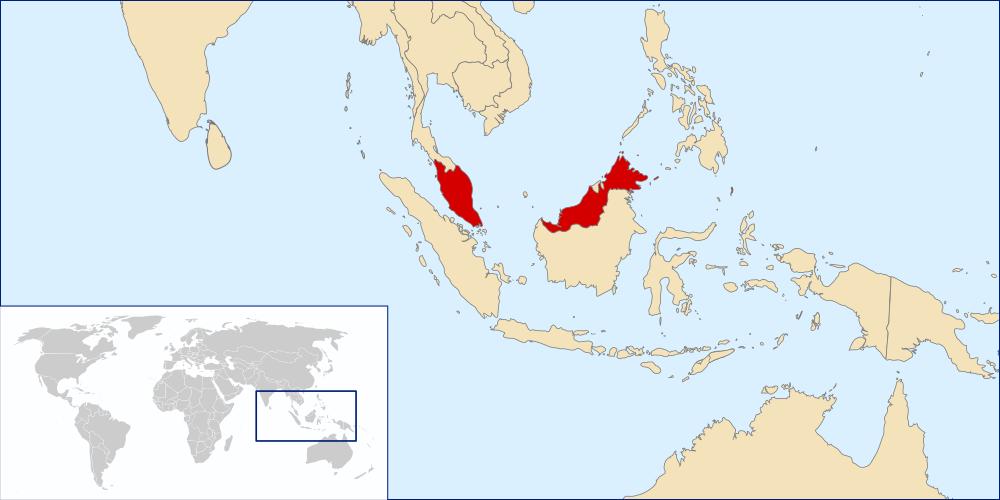 mappa malesia